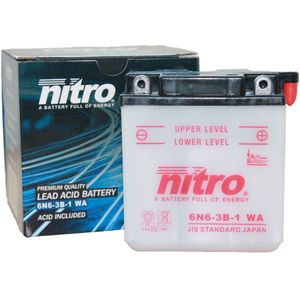 6N6-3B-1 Nitro Motorcycle Battery 6N6-3B-1 WA