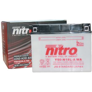 Y50-N18L-A2 Nitro Motorcycle Battery Y50-N18L-A WA