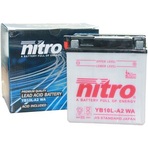 YB10L-A2 Nitro Motorcycle Battery YB10L-A2 WA