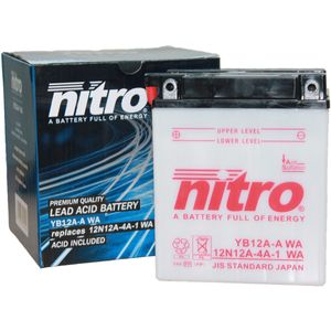 YB12A-A Nitro Motorcycle Battery YB12A-A WA