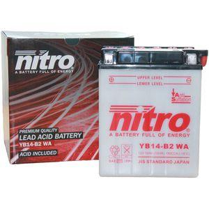 YB14-B2 Nitro Batterie De Moto YB14-B2 WA