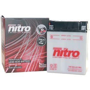 YB14A-A2 Nitro Batterie De Moto YB14A-A2 WA
