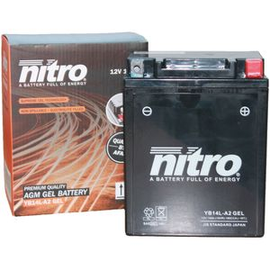 YB14L-A2 GEL Nitro Motorcycle Battery YB14L-A2 GEL