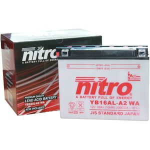 YB16AL-A2 Nitro Motorcycle Battery YB16AL-A2 WA