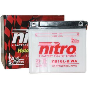 YB16L-B Nitro Motorcycle Battery YB16L-B WA