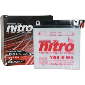 YB9-B Nitro Motorcycle Battery YB9-B WA