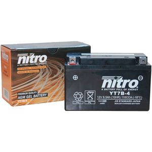 YT7B-4 Nitro Motorcycle Battery