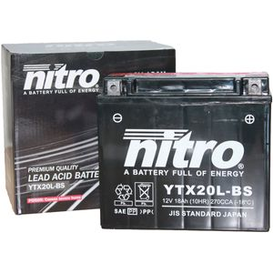 YTX20L-BS Nitro Motorcycle Battery