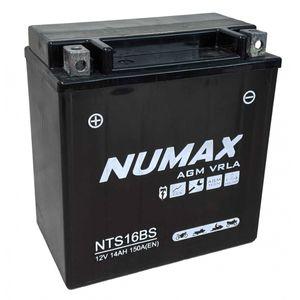 NTS16BS Numax AGM VRLA Batterie De Moto 12V 14Ah