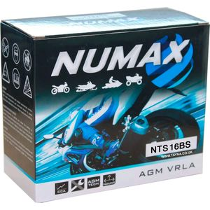 NTS16BS Numax AGM VRLA Motorcycle Battery 12V 14Ah
