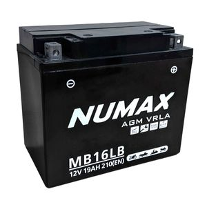 NTS16LB Numax AGM VRLA Motorcycle Battery 12V 19Ah YB16L-B MB16LB