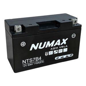 YT7B-BS Numax Motorbike Battery YT7B-4