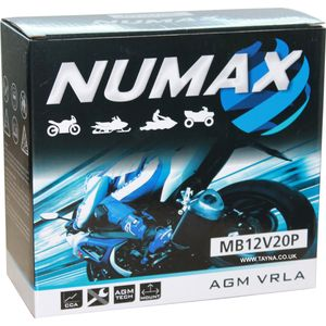 51913 (MB12V20P) Sealed Numax Motorbike Battery