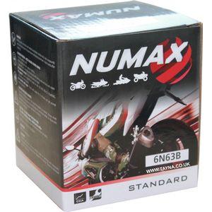 6N6-3B Numax Motorcycle Battery 6V 6Ah