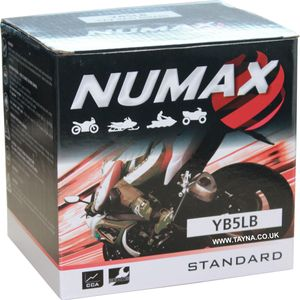 YB5L-B Numax Motorcycle Battery 12V 5Ah YB5LB