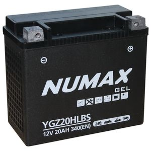 YGZ20HLBS Gel Numax Motorcycle Battery 12V 20Ah YGZ20HL-BS