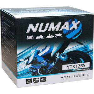 YTX12-BS Numax Motorbike Battery (NTX12-BS)