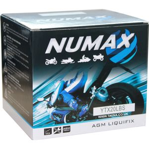 YTX20L-BS Sealed Numax Motorbike Battery (NTS20L-BS)