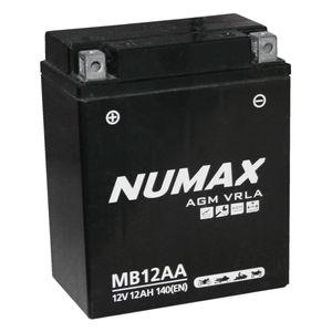 YB12A-A Gel Numax Motorcycle Battery 12V 12Ah AGM YB12AA MB12AA