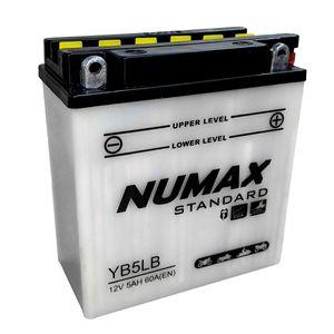 YB5L-B Numax Batterie De Moto 12V 5Ah YB5LB