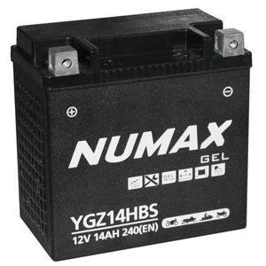 YGZ14HBS Gel Numax Batterie De Moto 12V 14Ah YGZ14H-BS