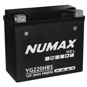 YGZ20HBS Gel Numax Motorcycle Battery 12V 20Ah YGZ20H-BS