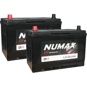Pair of Numax LV26MF Sealed Leisure Battery 12V 95Ah