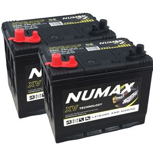Pair of Numax CXV24MF Sealed Leisure Batteries
