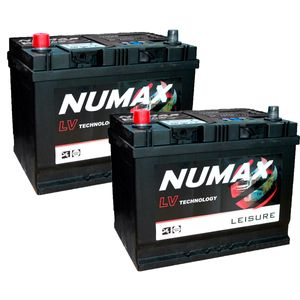Pair of Numax LV22MF Sealed Leisure Battery 12V 75Ah