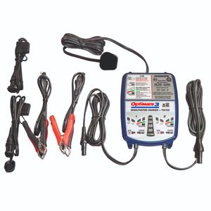 Optimate 3x2 12V 0.8A Dual Bank Motorcycle Battery Charger & Optimiser