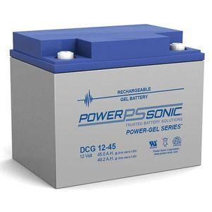 DCG12-45 Power Sonic Deep Cycle GEL Battery 45Ah