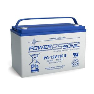 PG-12V110 Power Sonic VRLA Battery 111Ah
