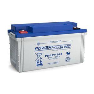 PG-12V130 Power Sonic VRLA Battery 128.4Ah