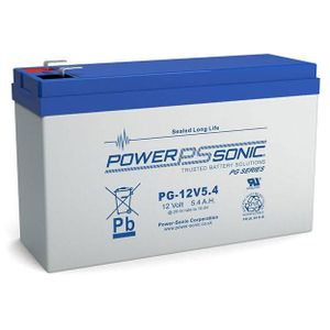 PG-12V5.4 Power Sonic VRLA Battery 5.4Ah
