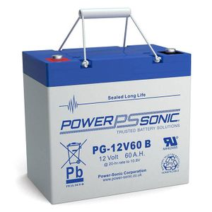 PG-12V60 Power Sonic VRLA Battery 60Ah