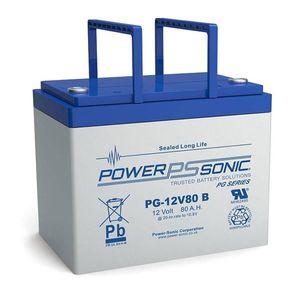 PG-12V80 Power Sonic VRLA Battery 80.2Ah