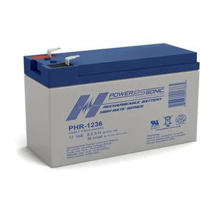 PHR-1236 Power Sonic High Rate VRLA Battery 9Ah