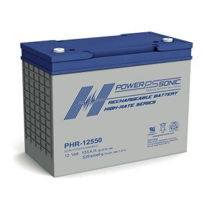 PHR-12550 Power Sonic High Rate VRLA Battery 155Ah