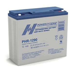 PHR-1290 Power Sonic High Rate VRLA Battery 21.2Ah