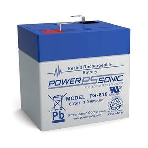 PS-610 Power Sonic Sealed Lead Acid (SLA) Battery 1Ah