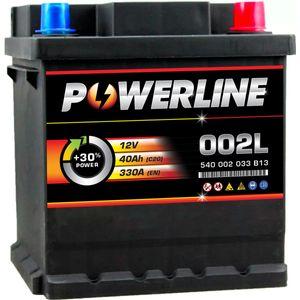 002L / 202 Powerline Car Battery 12V 40Ah