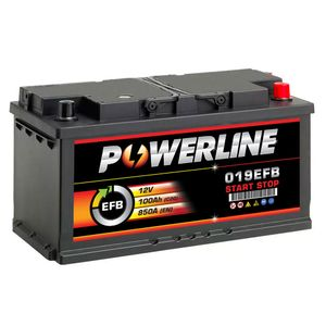 019 EFB Powerline Start Stop Car Battery 100Ah