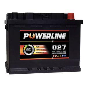 027 Powerline Car Battery 12V