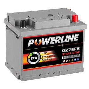 027 EFB Powerline Start Stop Car Battery 60Ah