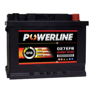 027 EFB Powerline Start Stop Car Battery 60Ah