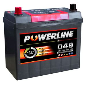 057 Powerline Car Battery 12V 45Ah