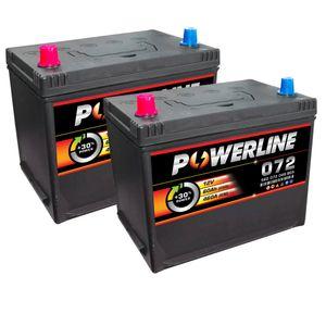 Pair of 072 Powerline Car Battery 12V