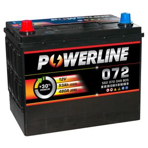 072 Powerline Car Battery 12V