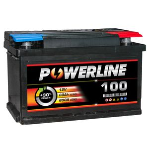 100 Powerline Car Battery 12V