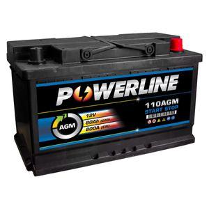 110 AGM Powerline Start Stop Car Battery 12V 80Ah